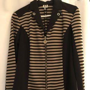 Anne Klein zip up sweater